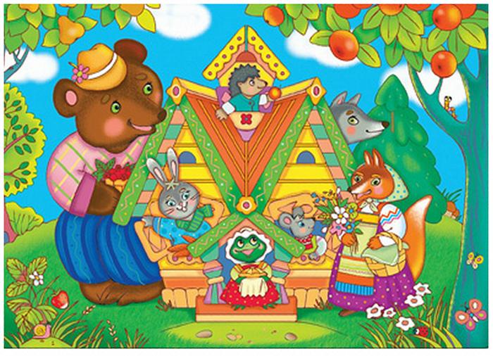 Мозаика для малышей: мега-пазл (ДРОФА) теремок и принцесс