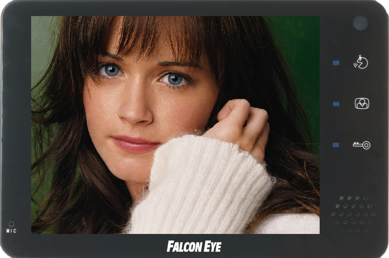 """Falcon Eye FE-74R Монитор цветной видеодомофон TFT LCD 7 """" , на 2 вызывные панели и 2 камеры, встроенный регистратор..."""