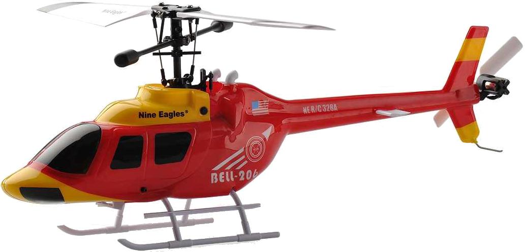 Радиоуправляемый вертолет Nine Eagles Bell 206 Red 328A 2.4G RTF.