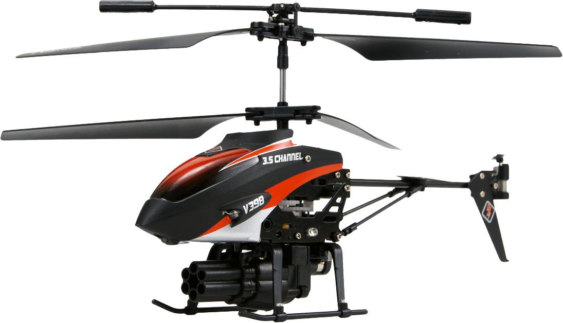Радиоуправляемая модель вертолёта соосной схемы Wltoys V398 RC shooter Helicopter со стреляющей р. WLT-s398.