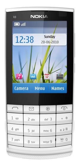 Мобильные телефоны nokia x3 touch and type в
