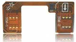 Адаптер на 2 SIM 5 поколение без вырезания SIM