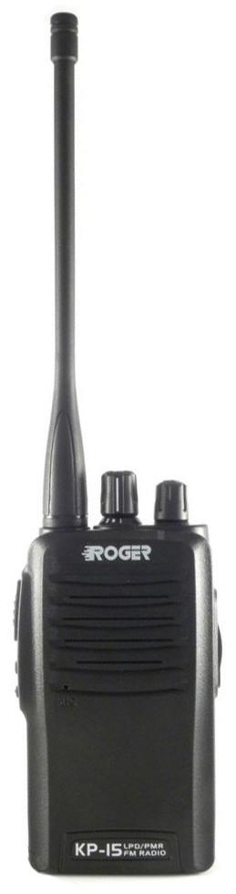 Рация Roger KP-15 выполнена по классической схеме для моделей коммерческого использования и имеет 16 каналов памяти.