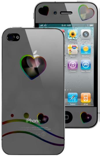 Защитная пленка для телефона Защитная пленка для Apple iPhone 4S Heart Front...