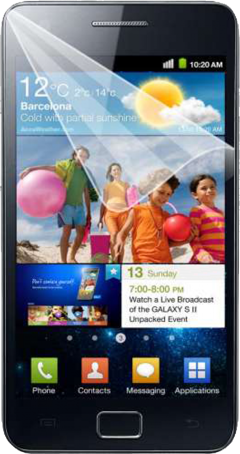 Защитная пленка для Samsung i9100 Galaxy S 2 ArtWizz ScratchStopper AZ611ZZ.
