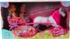 фото Кукла Simba Две Еви-принцессы + лошадь с каретой 12 см 5736646