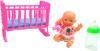 фото Кукла S+S Toys Пупс с кроваткой и бутылочкой EI43491R