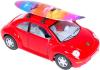 фото Автомобиль KINSMART Volkswagen New Beetle with surfboard 1:32 KT5028S