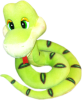 фото Sonata Style Змейка зеленая 24 см GT5871