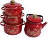 фото Набор посуды ЭМАЛЬ Золотой махаон 2-3107/6М