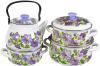 фото Набор посуды КМК Лиловый цвет