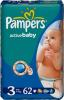 фото Pampers Active Baby Midi 4-9 кг 62 шт