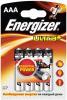 фото Батарейки Energizer LR03 FSB4 Ultra