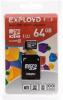фото EXPLOYD MicroSDXC 64GB Class 10 UHS-1 80 Мб/с + SD adapter
