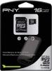 фото PNY MicroSDHC 16GB Class 4 + SD адаптер