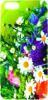 фото Накладка на заднюю часть для Apple iPhone 5 Lux green flower + защитная пленка