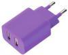 фото Зарядное устройство для Apple iPad 4 Deppa Ultra Colors 11371