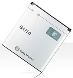 Фото аккумуляторной батареи Sony Ericsson BA750