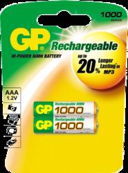 Фото аккумуляторной батарейки GP 100AAAHC-UC2 PET-G