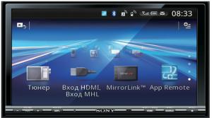 Фото магнитолы в машину Sony XAV-712BT