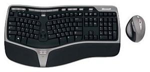 фото Клавиатура Комплект Microsoft Natural Wireless Ergonomic Desktop 7000 (клавиатура+мышь)