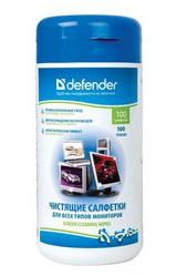 фото Влажные чистящие салфетки Defender CLN 30102 100 шт. для мониторов