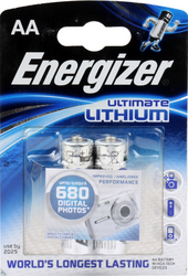 Фото литиевых элементов питания Energizer Ultimate Lithium LR6-2BL