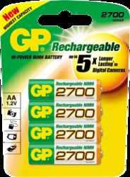 Фото аккумуляторной батарейки GP 270AAHC-UC4 PET-G