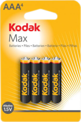 Фото элементов питания Kodak MAX LR03-4BL