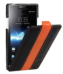 Фото кожаного чехла для Sony Xperia S Melkco