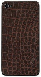 Наклейка на Apple iPhone 4 ZAGG LEATHERSkin Aligator SotMarket.ru 950.000