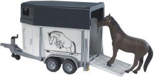 Bruder Прицеп-коневозка с лошадью 02-028