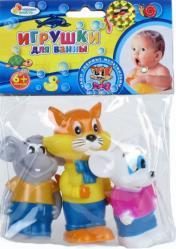 Фото игрушки для купания Кот Леопольд и 2 мышонка Играем вместе 102R-PVC