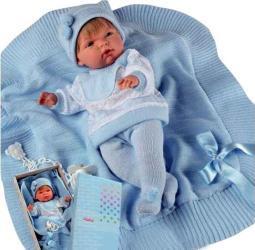 Фото куклы Llorens Мигуэль 38 см с одеяльцем 38925
