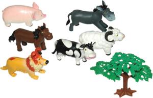 Набор фигурок 1 TOY Мультяшки животные с фермы Т51821