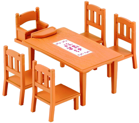 фото Sylvanian Families Обеденный стол с 5-ю стульями 2933