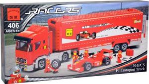Конструктор Brick Перевозчик автомобилей К406 Конструктор Brick Перевозчик автомобилей К406 понравится собирать и...