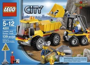 фото Конструктор LEGO City Погрузчик и самосвал 4201