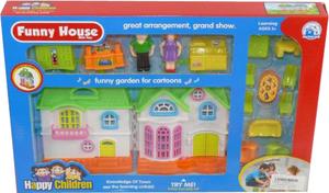 фото Домик Shantou Gepai Дом для кукол с мебелью, свет, звук 622592