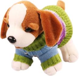 фото Мягкая игрушка Fluffy Family Щенок Персик в одежде 20 см 93462
