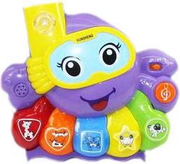 фото Музыкальная игрушка Shantou Gepai Осьминожка эл., свет, 5 звуков животных и музыки 623856
