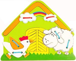 фото Развивающая игрушка Mapacha Шнуровка Ферма 76408