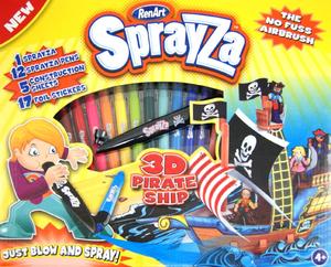 фото Фломастеры RenArt Sprayza Пиратский корабль SA2831