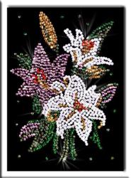 Фото настольной игры Волшебная мастерская Мозаика из пайеток Лилии 48341