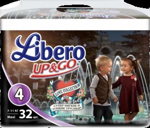 Libero Up&Go Jumbo Maxi 7-11 кг 32 шт Love SotMarket.ru 1220.000