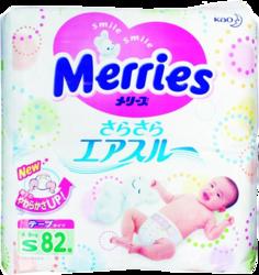 фото Merries S 4-8 кг 82 шт