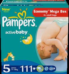 Pampers Active Baby Junior 11-18 кг 111 шт SotMarket.ru 2410.000