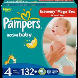 Pampers Active Baby Maxi 7-14 кг 132 шт SotMarket.ru 2420.000