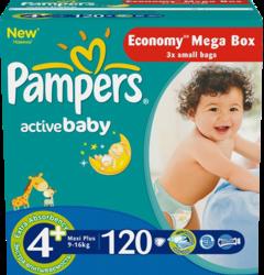 Pampers Active Baby Maxi Plus 9-16 кг 120 шт SotMarket.ru 2440.000