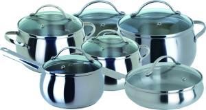 Фото набора посуды Regent INOX Apple 93-D-12 из нержавеющей стали